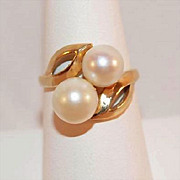 Ladies 14K Gold and Cultured Pearl Ring