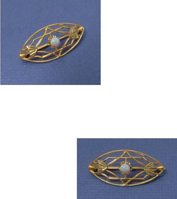 Sweet Antique 10K Gold Opal Lingerie Pin