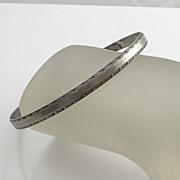 REDUCED Vintage Sterling Silver Art Nouveau Flower Floral Bangle Bracelet