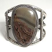 SALE Vintage Indian Fowler Sterling Silver Cuff Bracelet