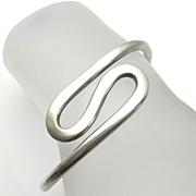 SALE Vintage Mexican Sterling Silver Modernist Bracelet