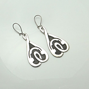 REDUCED Big Vintage Mexican Sterling Silver Earrings