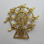 Fun Figural Danecraft Ferris Wheel Pin