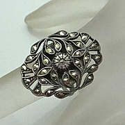 REDUCED Vintage Art Deco Sterling Silver Marcasite Flower Ring