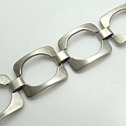 REDUCED Modernist Sterling Silver Bracelet
