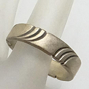 Sterling Silver Indian SY Size 11 Men's Man's Ring Band