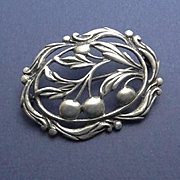 Vintage Earlier Danecraft Sterling Silver Cherry Pin
