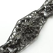 Vintage Sterling Silver Fancy Intense Filigree Bracelet