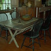 Country Primitive Sawbuck Table