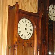 """Seth Thomas """"Queen Anne"""" Walnut Wall Clock"""