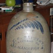 Antique T.F.  Reppert 2 Gallon Jug