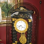 SALE French Empire Clock Under Glass Dome