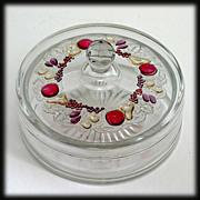 Westmoreland Glass Della Robbia Chocolate Box Vintage Candy Jar