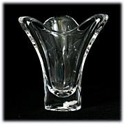 Maasricht Royal Leerdam Crystal Vase Vintage Art Glass from Holland