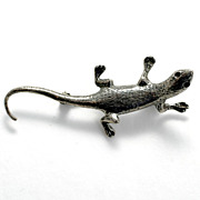 Sterling Silver Lizard Gecko Pin