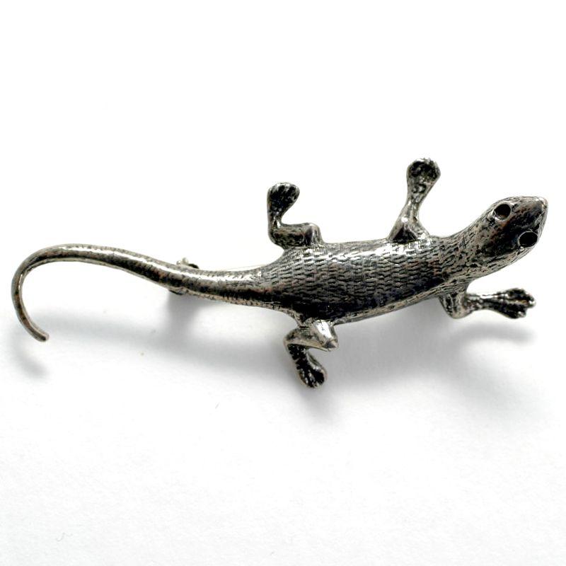 Sterling Silver Lizard Gecko Pin
