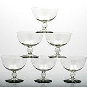 Kosta Boda Bernadotte Sherbet Glasses Smoke Gray Crystal Mid Century Art Glass