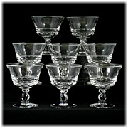 Fostoria Century Elegant Glass Champagne or Sherbet Glasses Set 8 Vintage Crystal
