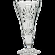 Vintage Art Deco Glass Vase Pressed Crystal European Large