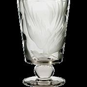 Franz Grosz Sand Carved Vase Phoenix Bird Tiffin 17350 Swedish Optic Vase Crystal