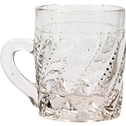 Westmoreland EAPG Puritan Toy Mug Antique Glass 1905 Pressed Glass