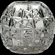 EAPG Hobbs Block Rose Bowl Hobbs Brockunier Antique Pressed Glass 1891