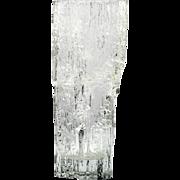 Iittala Avena Crystal Vase Tapio Wirkalla Vintage Scandinavian Art Glass