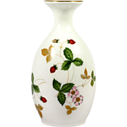 Wedgwood Wild Strawberry Bone China Vase English Pottery
