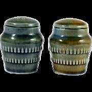 Wade Irish Porcelain Salt and Pepper Shakers Set Vintage Green Blue