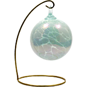 Glass Eye Studio Christmas Ornament Hand Blown White Holiday Decoration