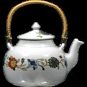 Limoges Porcelain Teapot Fleurs Persanes Porcelaine De Paris French