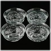 EAPG McKee Rock Crystal Bowls Set 4 Fruit or Dessert 1915 Pressed Glass