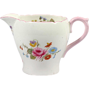 Shelley Creamer Rose and Red Daisy Bone China England Vintage