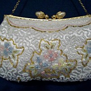 Beaded evening bag Handmade France