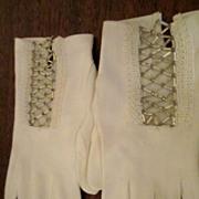 Beaded White Dress Gloves Fownes