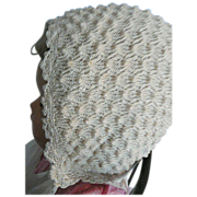 Crocheted Silky Baby or Doll Bonnet