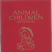 Children's Book Animal Children 1913