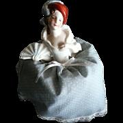 SALE Porcelain Pin Cushion Half Doll