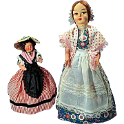 Two Dolls in Regional Costumes