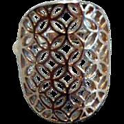 Lovely Filigree Sterling Silver Ring