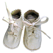 Sweet Little Vintage Leather Baby Shoes
