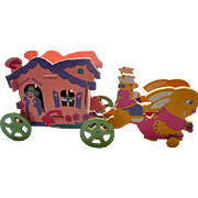 Trixy Toy Mother Goose Wagon Movable Toy 1930's