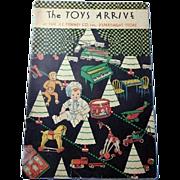 J C Penny's The Toys Arrive 1930 Magazine