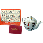 Williamsburg Hotch Potch Alphabet Puzzle and Tea Pot