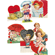 Six Vintage Made in the U.S.A Valentines
