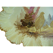 Antique Hand Painted Game Platter - Limoges, France