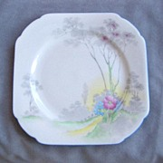 Square Shelley China Plate, Pattern No. 0148G