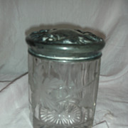 Antique Glass Tobacco Jar