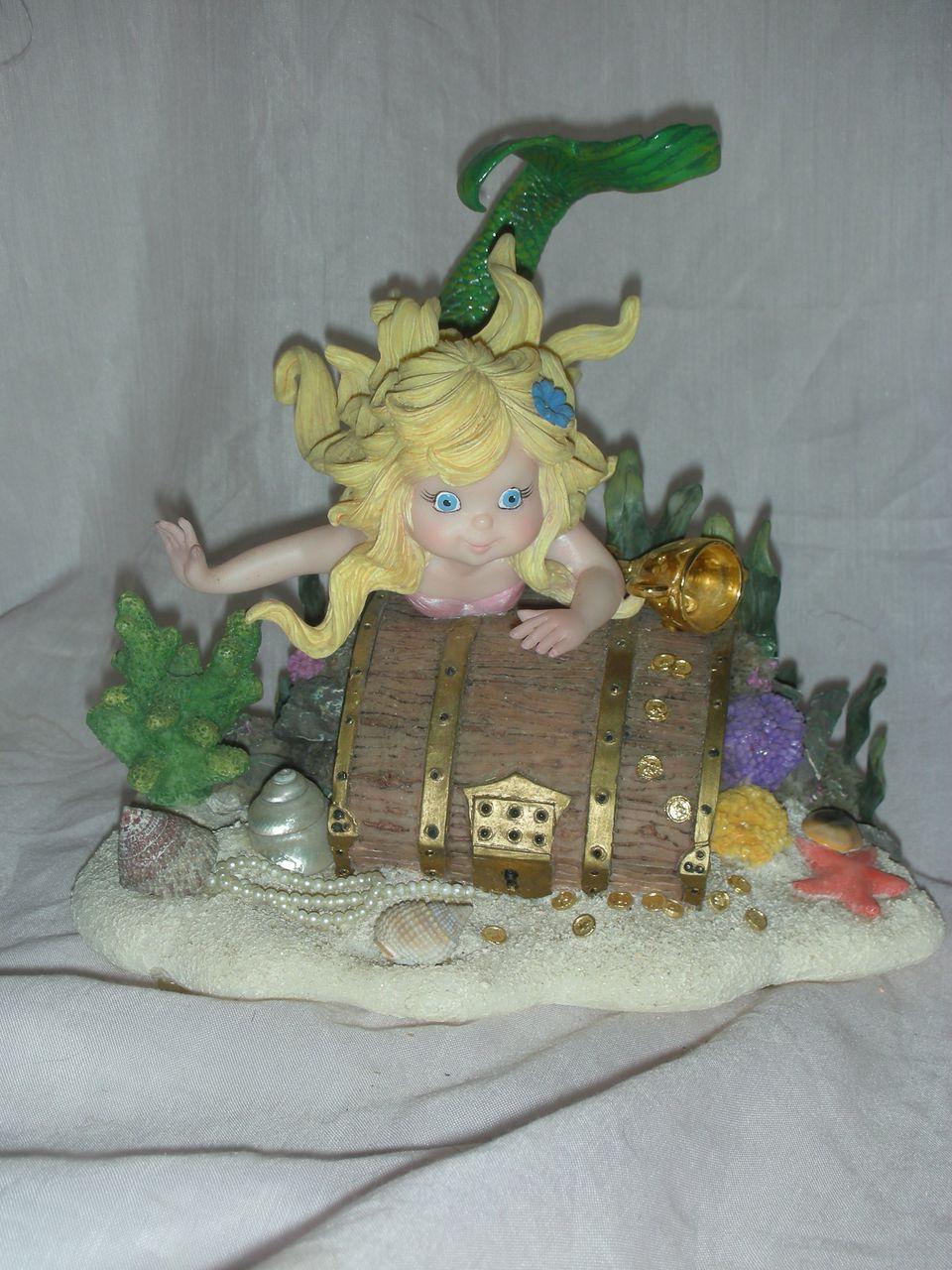 """Tom Ruebel Mystical Mermaid """"Deep Treasures'""""Figurine"""