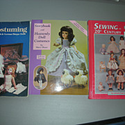 SOLD 3 Doll Books Sewing and How to Costume